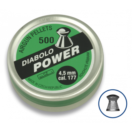 Image du produit Plombs DIABOLO POWER.Cal 4.5 (500pcs)