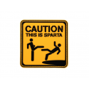 PATCH PVC CAUTION THIS IS SPARTA