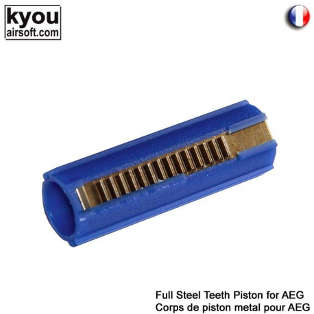 Image du produit Kyou - G5 Full Steel Teeth Piston for AEG - G5 Corps de piston métal pour AEG